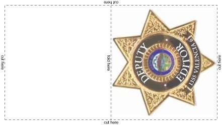 Deputy editor badge
