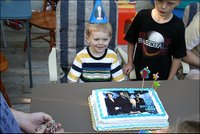 Henry Schally at his third birthday party.